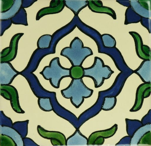 CRUZ AZUL - Patterned Tile - Mexican Tile Designs