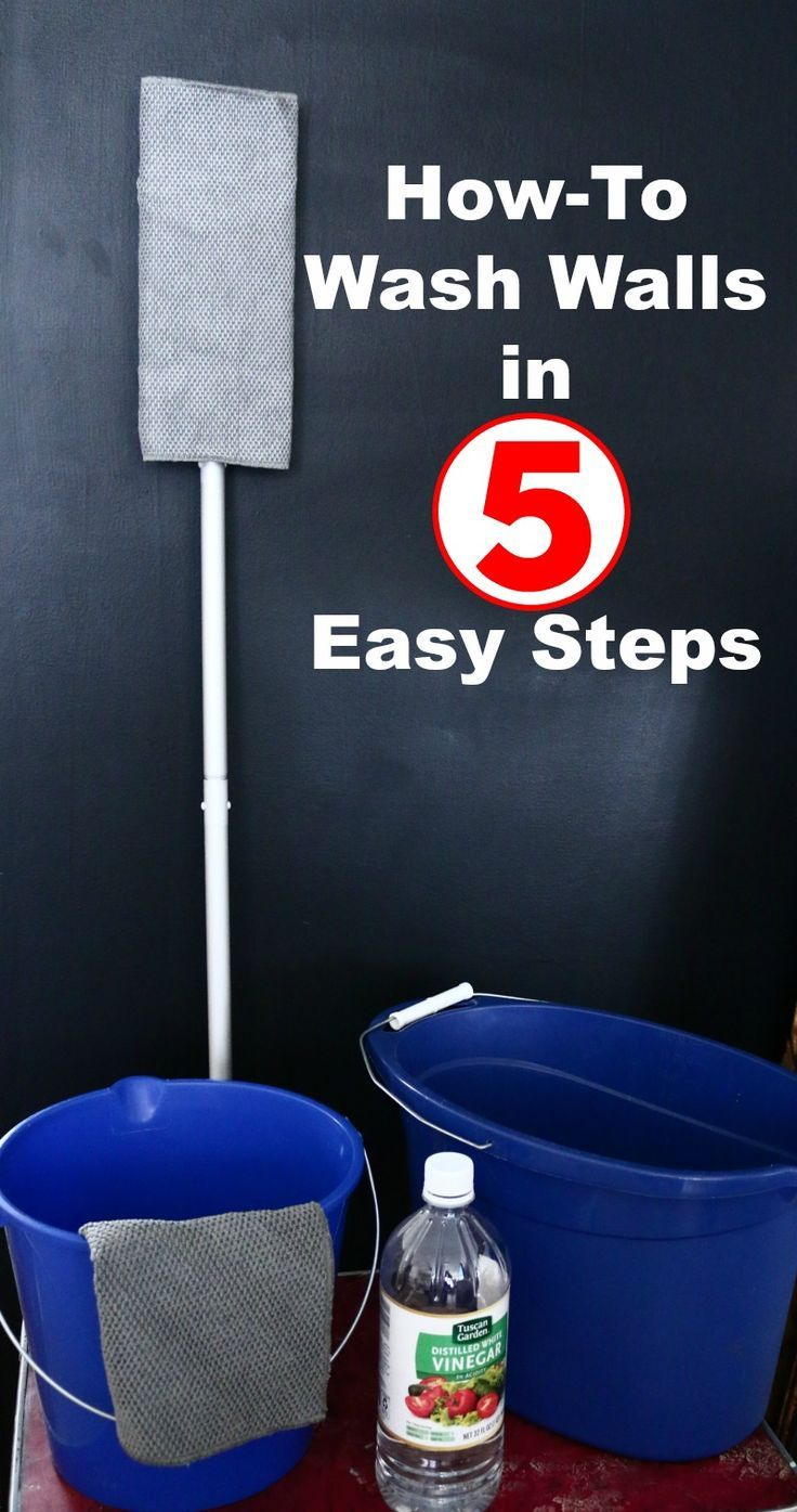 How to wash walls in 5 easy steps. All you need is vinegar, water, two buckets and these easy tips.