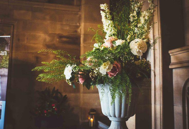 Flower arrangement by Bjiou Flowers at Rowallan Castle