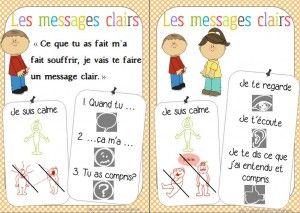 messages clairs pour permettre aux enfants d'exprimer leurs emotions