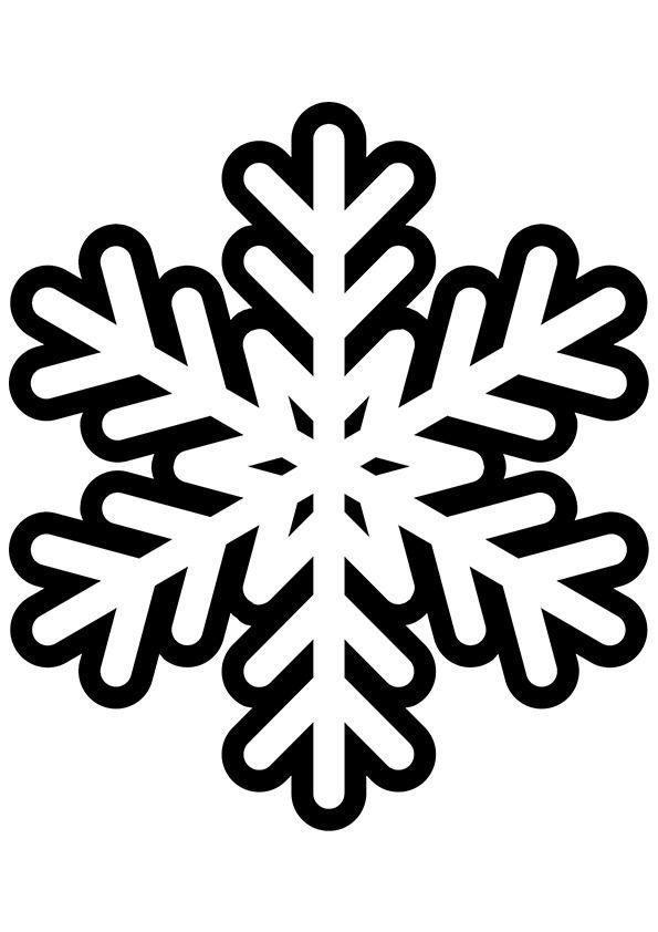 картинка снежинка черно белый рисунок длительное