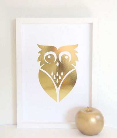 Cloud Nine Creative - Owl Racoon Print - A4