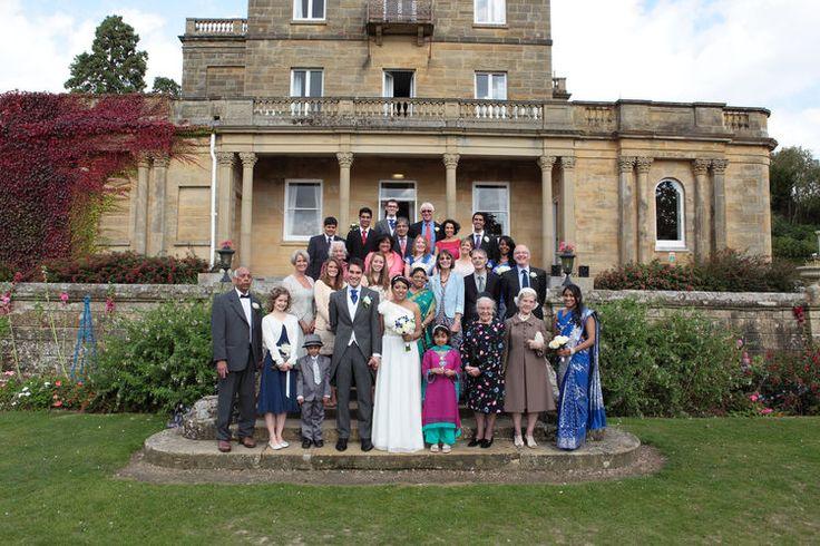 Wedding group photograph at Salomons