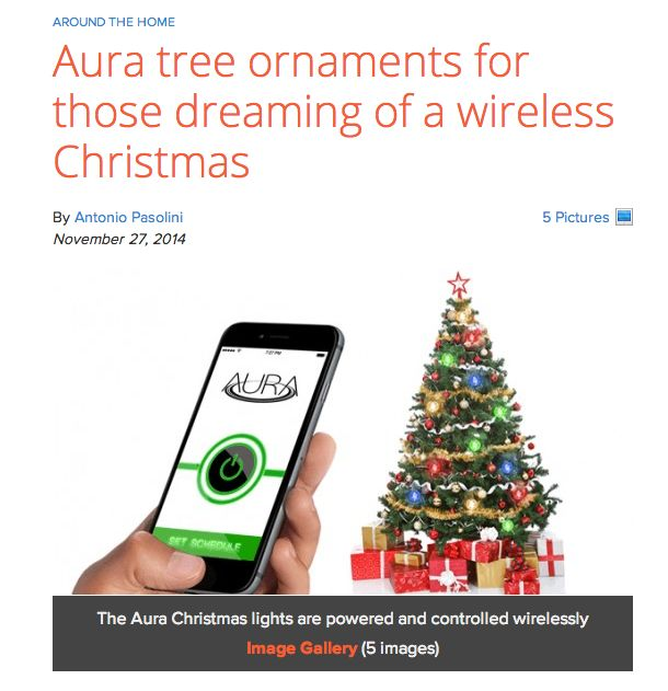 Powered By Aura Has Developed A System To Wirelessly Power Up Christmas Tree Lights The Aura System Is Centered Around The Aura Power Ring