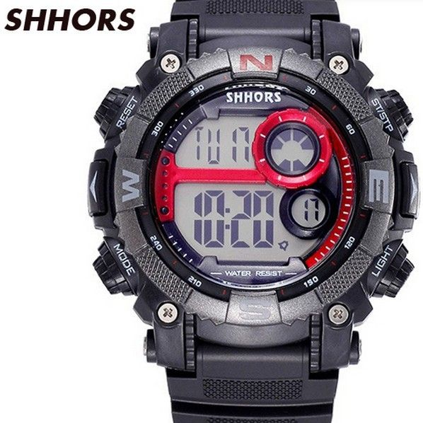 Find More Sports Watches Information about SHHORS 2015 Relogio Mens Digital Watches Sport Waterproof Multifunction Climbing Dive LED Wrist watch Military Montre Homme,High Quality Sports Watches from Colin's Fashion on Aliexpress.com