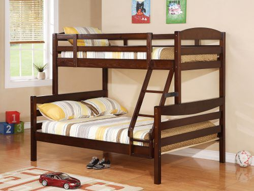 Double Deck Bed Design 01 For Boys Bedroom With Wood