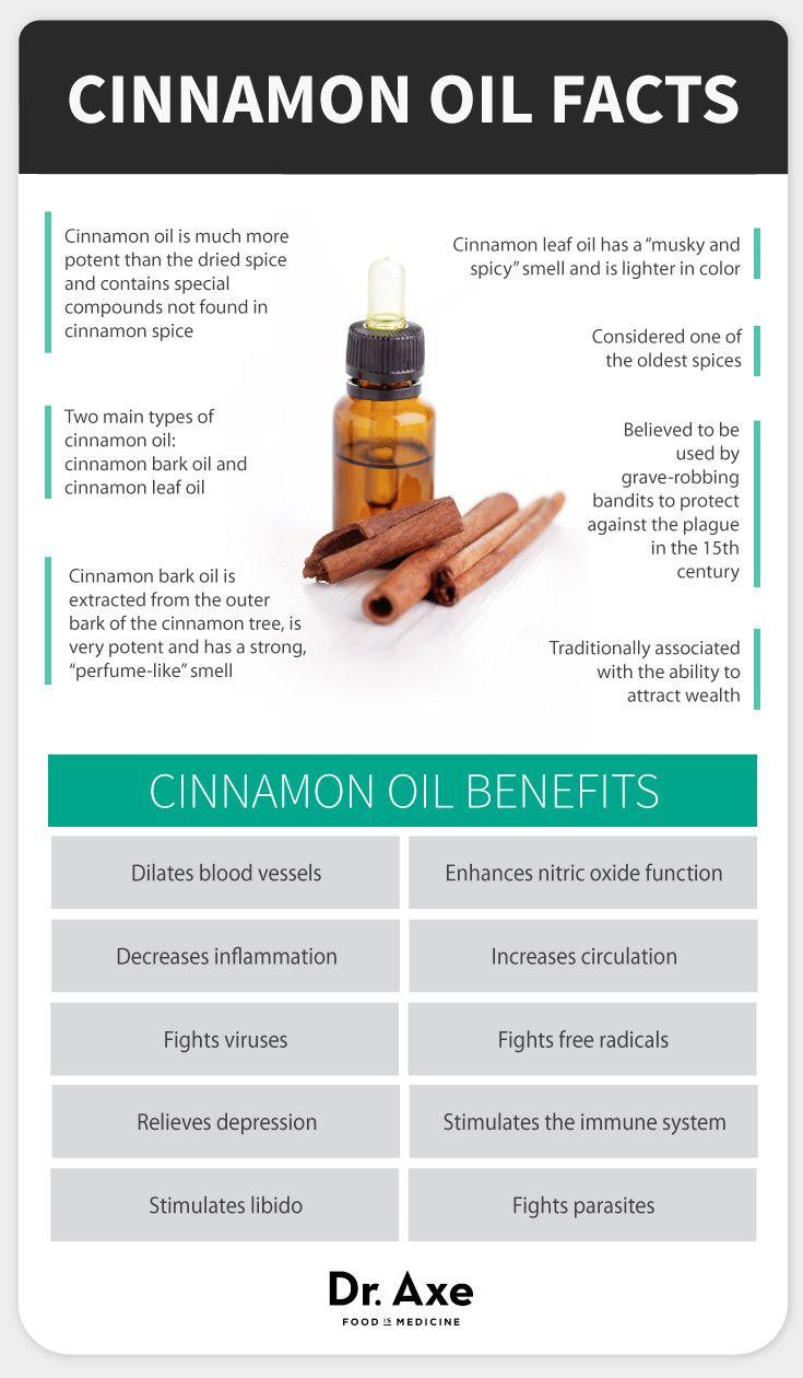 Cinnamon oil benefits - Dr. Axe http://www.draxe.com #health #holistic #natural