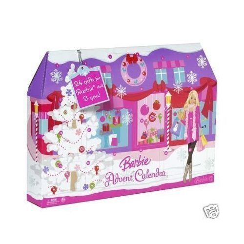 Barbie Advent Calendar Play Set - http://www.christmasshack.com/advent-calendars/barbie-advent-calendar-play-set/