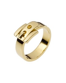 Michael Kors Buckle Ring, Rose Golden Rose golden brass. Buckle design. Size