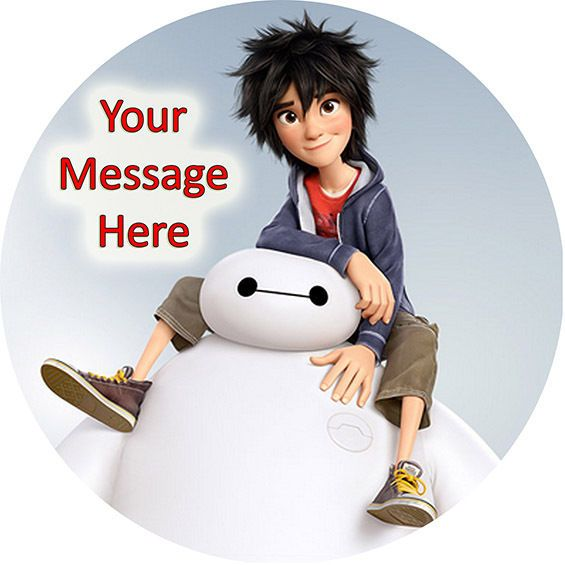 Big Hero 6 Printed Edible Icing Cake Topper Personalised Party Decoration