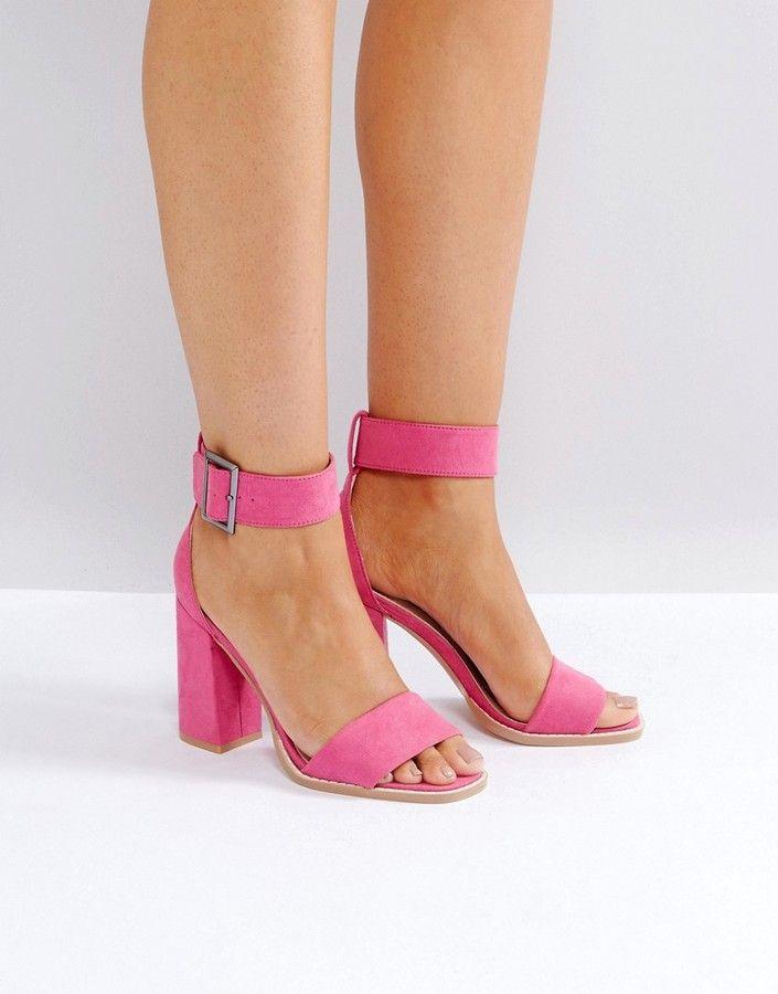 Raid RAID – Marina – Sandalen mit Blockabsatz in Rosa Damen Mode Trends und Fashion Ideen