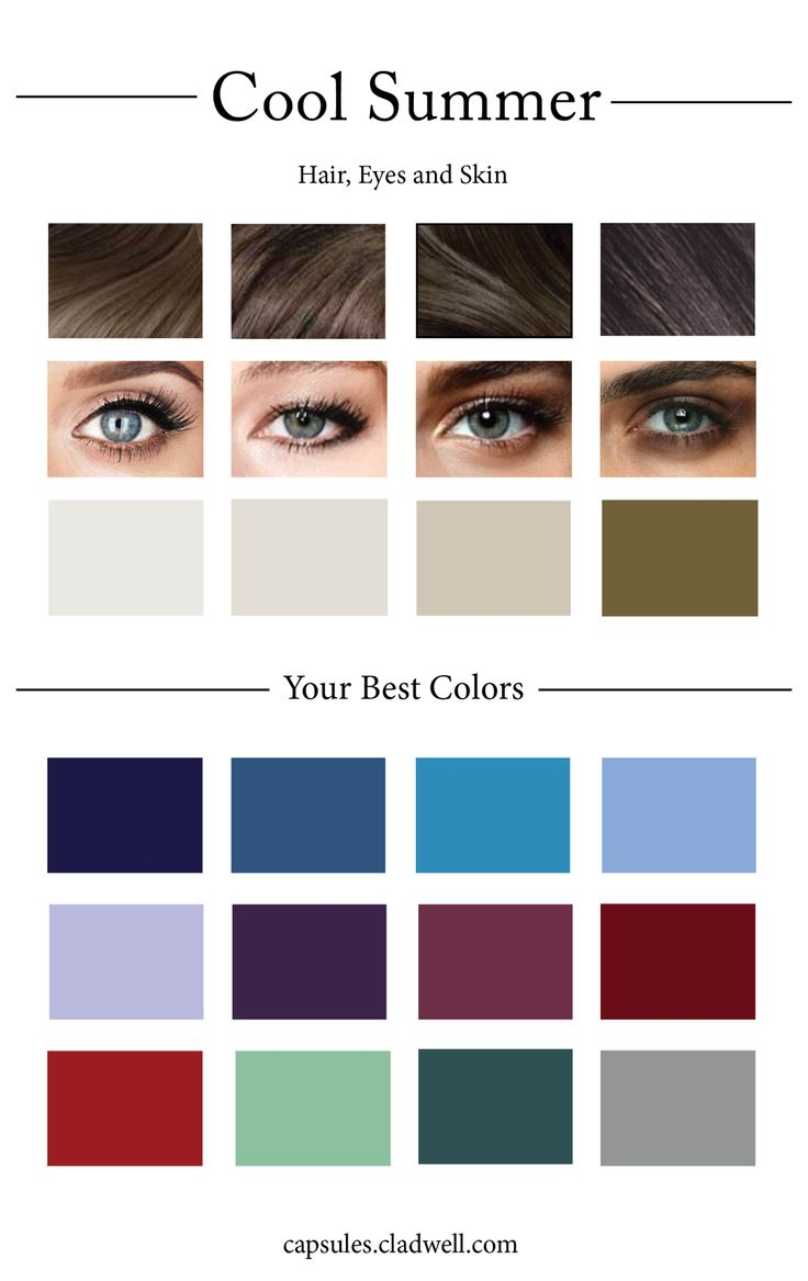 When creating a capsule wardrobe picking out a cohesive color palette is  one of the most helpful things you can do to ensure that your capsule  experience will go smoothly. Not only do you want to pick colors that go  together but you also want to pick colors that complement the color of your  hair, eyes and skin tone. With that in mind, we've created 12 different  color palettes based off that criteria so that your capsule plays up what  makes you, YOU.       Simply find which palette best…