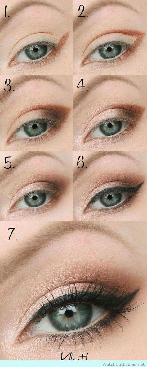 Copper Brown Light Shade Eye Makeup In Easy Steps