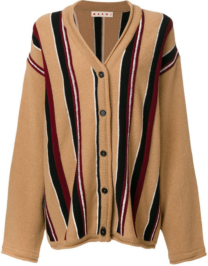 Marni oversized striped cardigan
