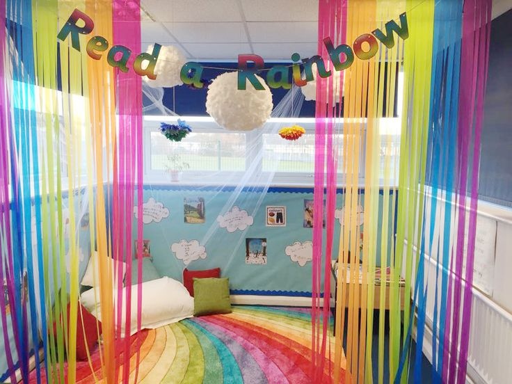 Super colourful Read a Rainbow display!