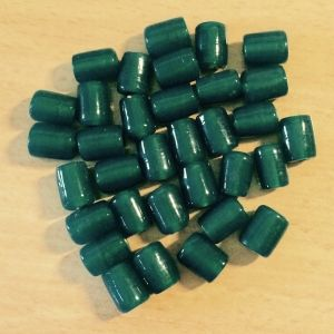 Teal - 12x9mm, 48 Glass Tube Beads