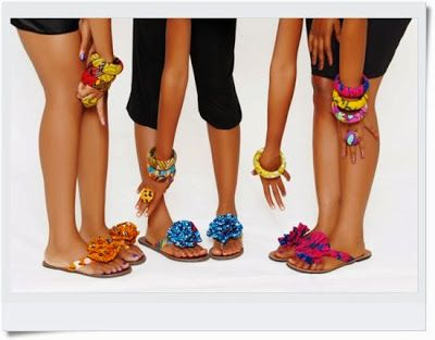 Ankara Made Accessories: Slippers, Bangles and Rings