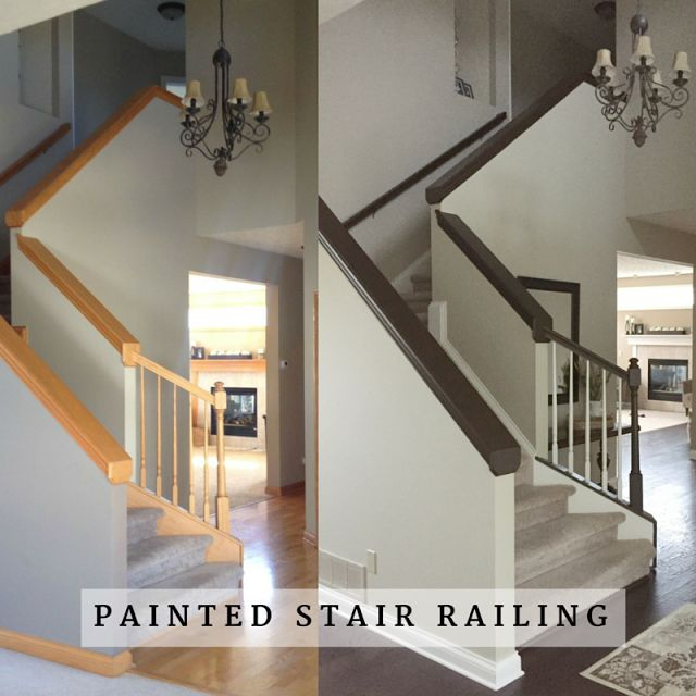 Painted Stair Railing