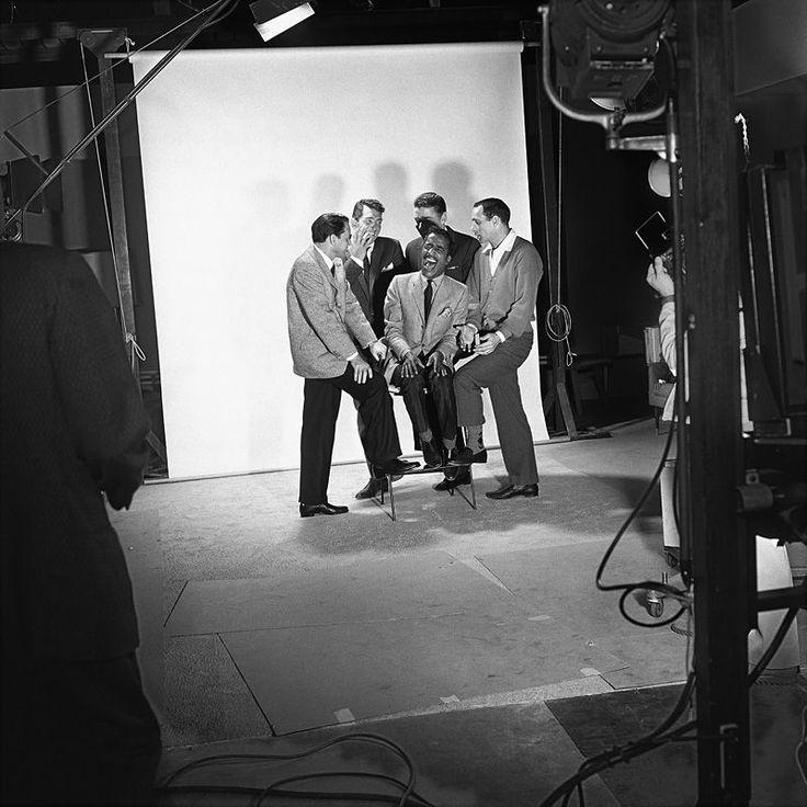 Sammy Davis Jr. with Frank Sinatra, Dean Martin, Peter Lawford and Joey Bishop - Sid Avery - Becker Minty