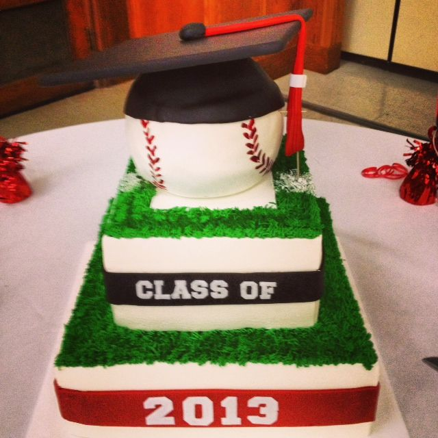 Graduation/baseball cake
