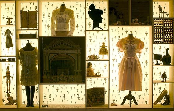 Display inspiration. Curiosity Cabinet for the exhibition Spectres: When Fashion Turns Back, 2005 at V&A