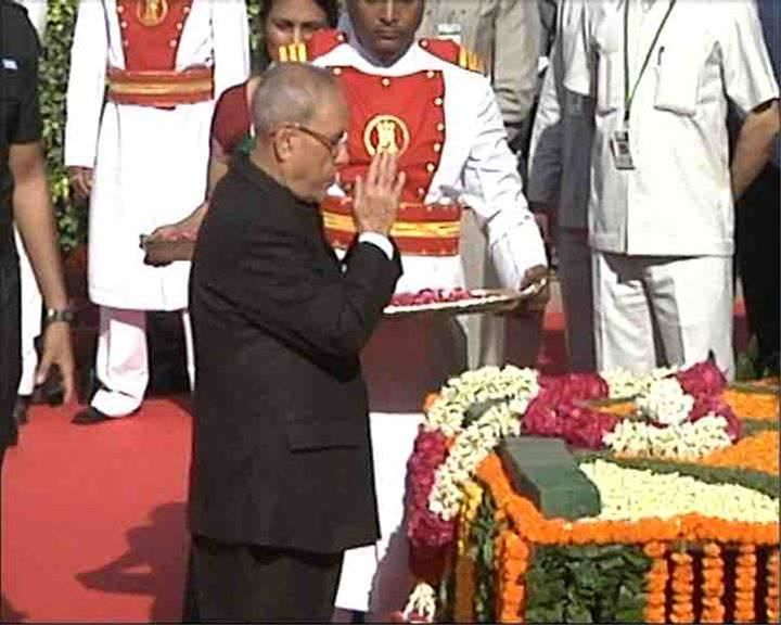 Floral tribute paid to B.R. Ambedkar's statue at Parliament house