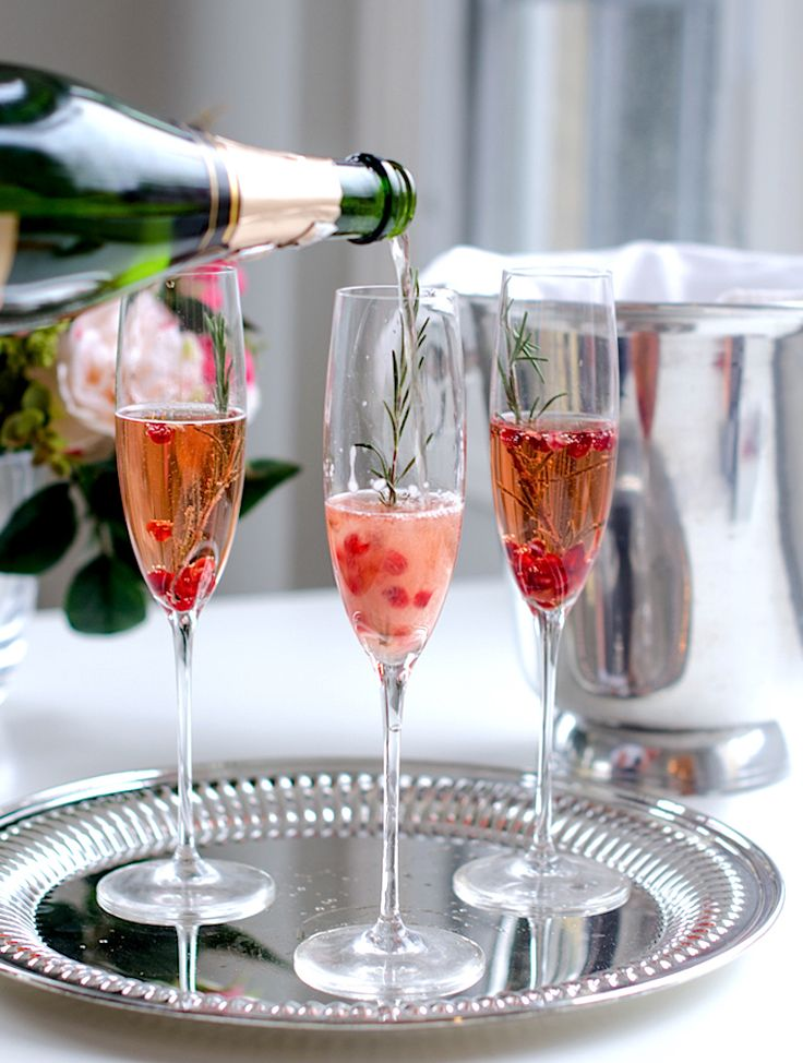 Pomegranate Rosemary Champagne