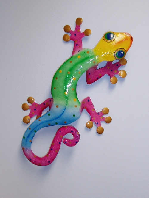 metal gecko wall art