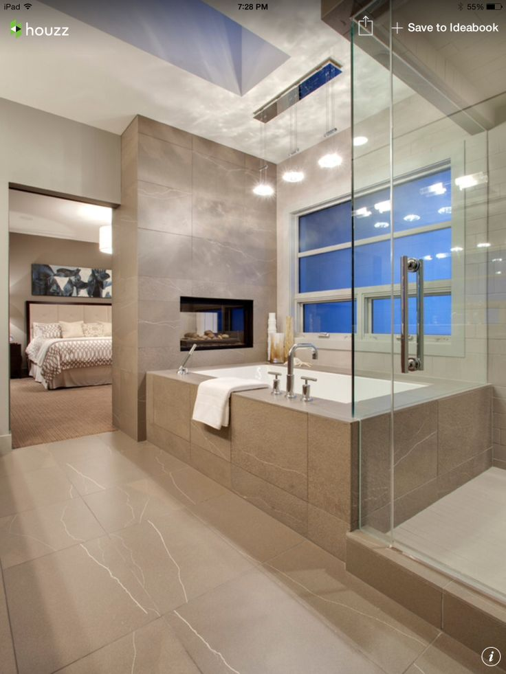 I like the fire place in bedroom and bathroom
