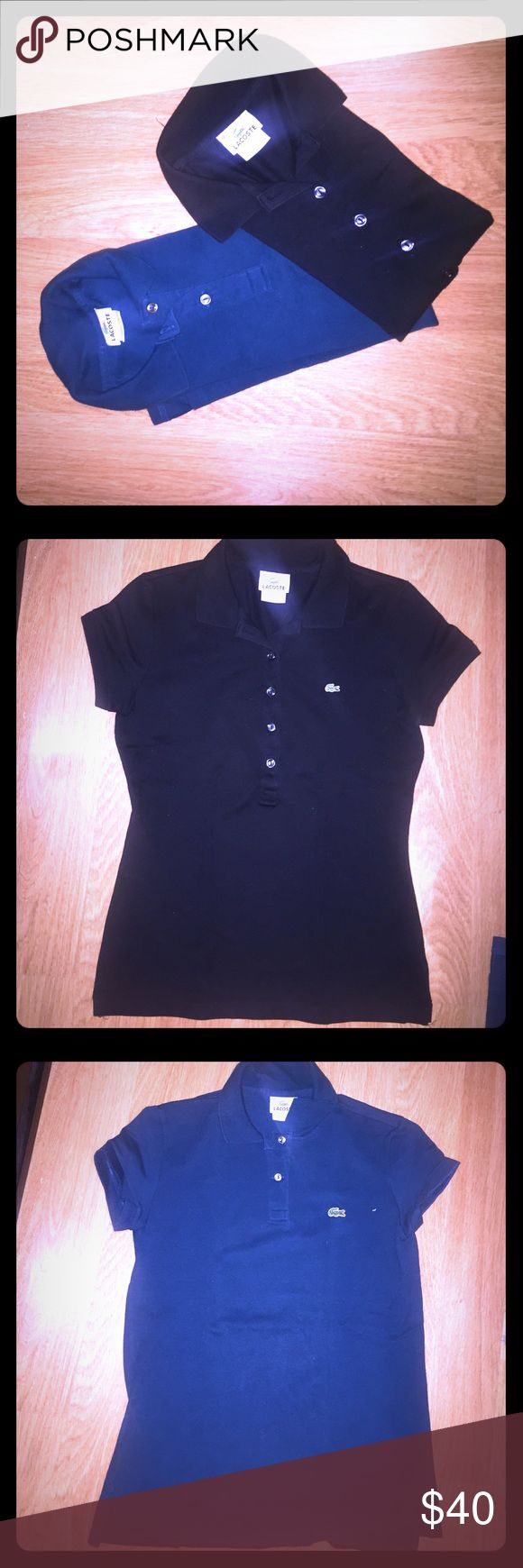 Authentic Lacoste Women's Polo 👚 Shirts Authentic Lacoste Polo Shirts for Women. In pristine condition. Used both only once. It is great to play golf 🏌 in during the summer. Lacoste Tops