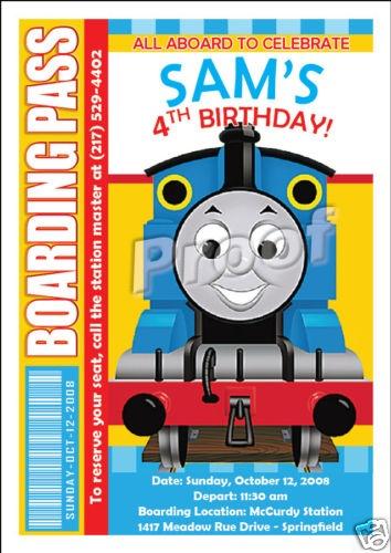 Set Of 10 Thomas The Train Boarding Pass Invitations