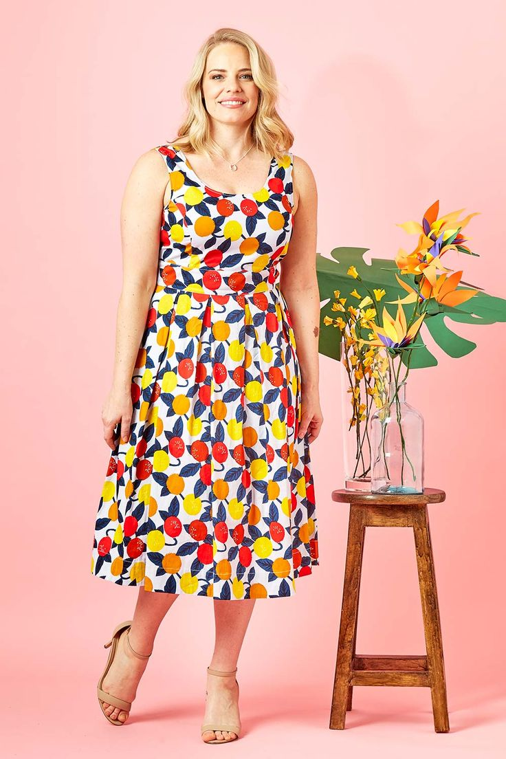 THAT BIRD LABEL - Lori Fit And Flare Dress Jungle Fruit