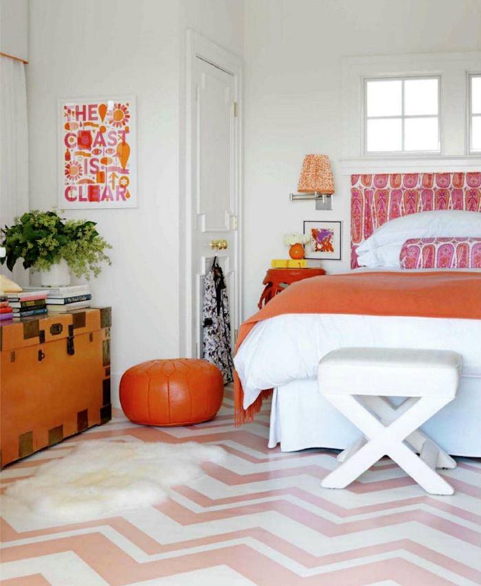 93 best girls bedroom ideas images on pinterest for Bright orange bedroom ideas