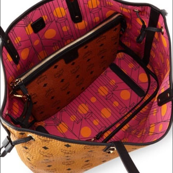 MCM Reversible Visetos Project Shopper Brand new want to trade with the other cognac option. Nwt. MCM Bags