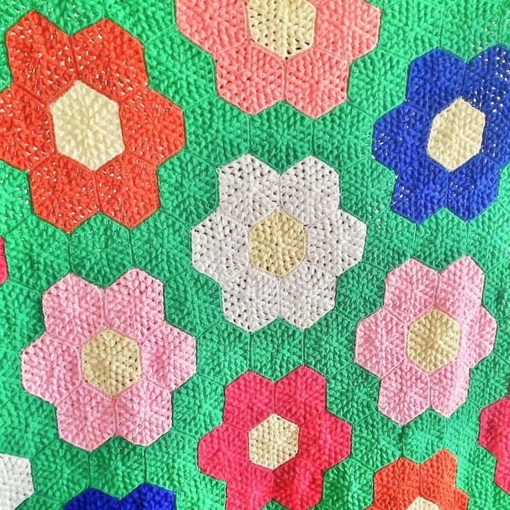60 Best Crochet Afghans Grandmothers Flower Garden Hexagons
