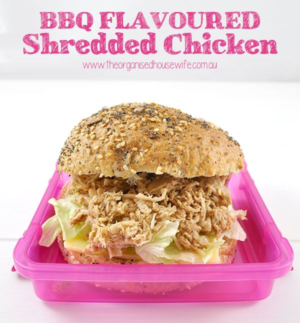 This BBQ Flavoured Shredded Chicken recipe takes at least an hour on the stove, but it is not very fiddly, prepare while your cooking dinner.