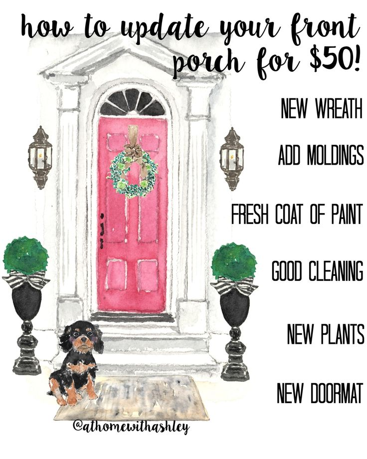 How to update your front porch for $50 - at home with Ashley