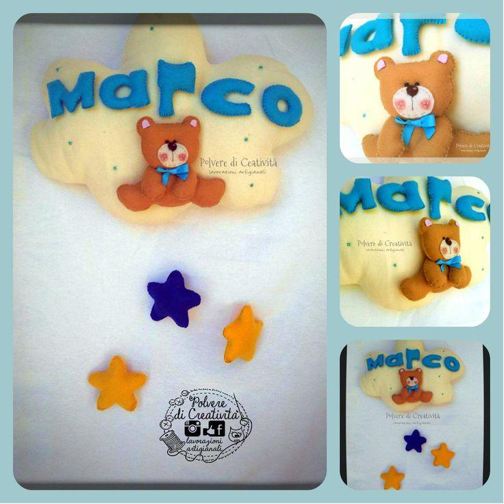 Fiocco Nascita Handmade , by Polvere di Creatività - lavorazioni artigianali, 45,00 € su misshobby.com