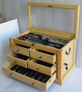 Knife-Display-Case-Storage-Cabinet-Shadow-Box-Top-Table-Top-Cabinet-KC07-NAT