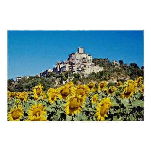 narni italy | Hill town of Narni, Umbria, Italy flowers print