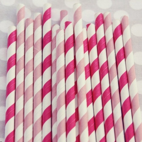 Sippin' Straws: Stripey Straws, Shops Sweet, Parties Supplies, Stripes Straws, Sweet Lulu, Pink Paper, Pink Straws, Paper Straws, Fun Straws