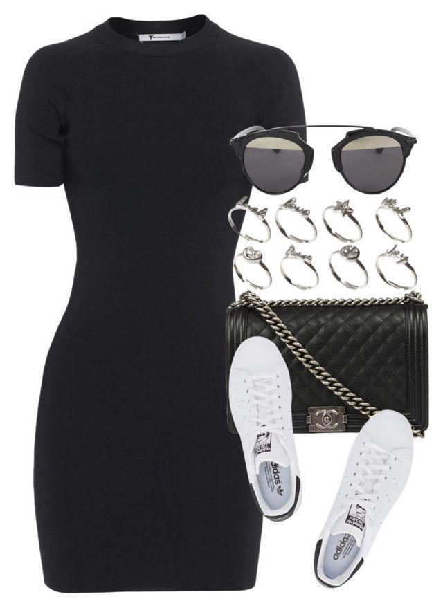 Vestido preto + Tênis branco