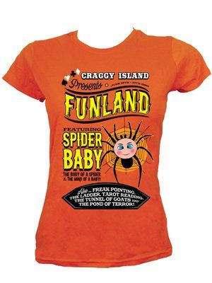 Funland Carnival Ladies Orange T-Shirt Inspired by Father Ted