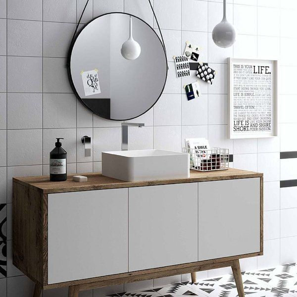 Afeitado, lavado de dientes, maquillaje, peinado… ¡Todo lo que se hace delante del lavabo! Te mostramos diseños de diferentes estilos, con espacio para guardar productos de aseo y accesorios.