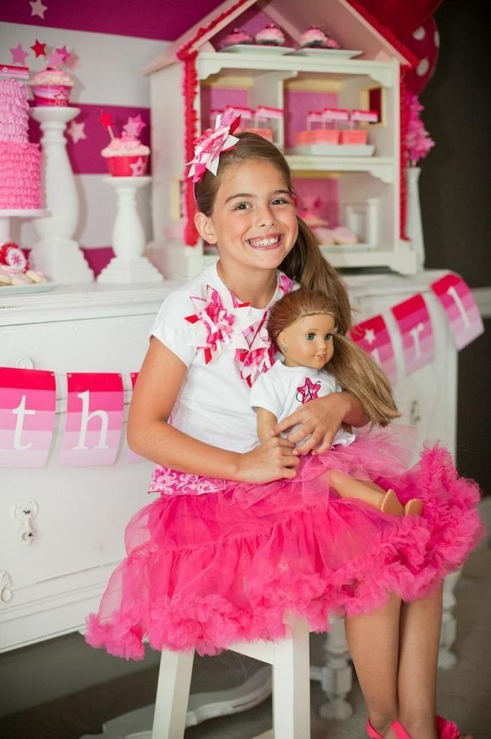 The sweetest American Girl Doll Birthday Party via Kara's Party Ideas   GEDINK VIR CHLOE SE BIRTRHDAY