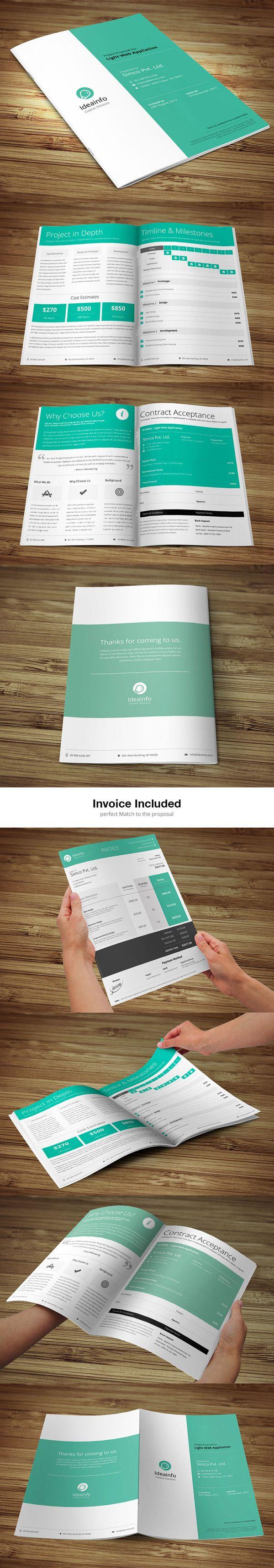 Short  & Quick Business Proposal by Bouncy Studio, via Behance