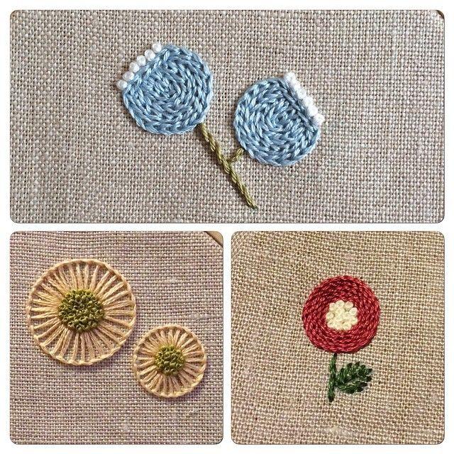 * 20日のAgostoさんでのWS、3つの図案をご用意しました。  お好きな図案と糸の色をお選びいただき、楽しい刺繍時間をお過ごしくださいね。