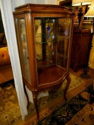 Price: $849.99 Item #: 136394 Gorgeous Small Curio Cabinet In A Mahogany  Finish Has
