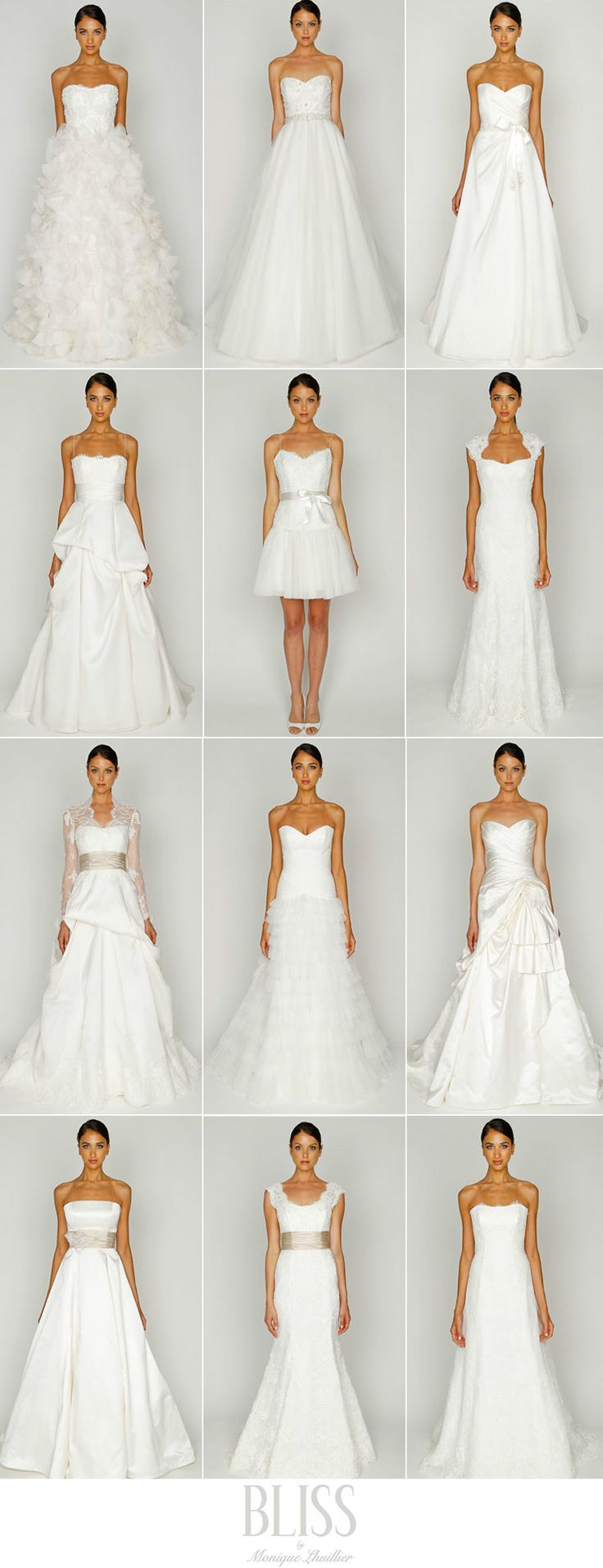 wedding dress shapes - good guide to look at before you go hunting for your wedding dress