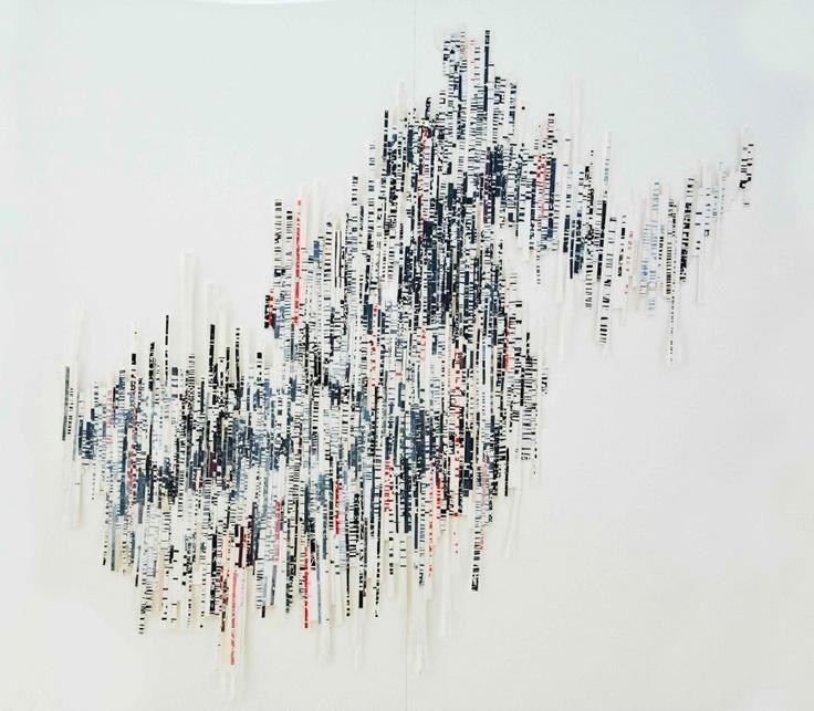 Fractures & segments   2013  Collage, mix-media   99 x 106 cm